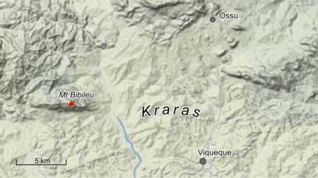 General area of Kraras massacres, September 1983. [Base map source: Google]