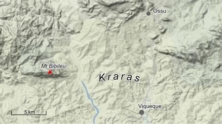 General area of Kraras massacres, September 1983. [Base map source: Google]