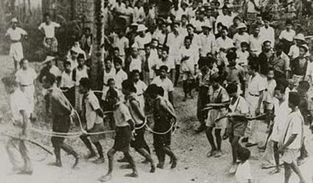 Indonesian leftists being herded off to public execution. [Source: Unknown]