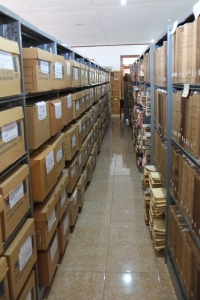 In the stacks: Portuguese colonial records at the Arquivo Nacional. [Source: C. Prata]