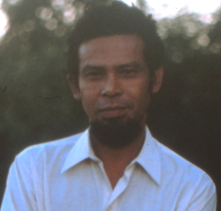 Alarico Fernandes, November 1975. The main voice of resistance radio until his surrender/capture with the radio in late 1978. [Photo: Jim Dunn]