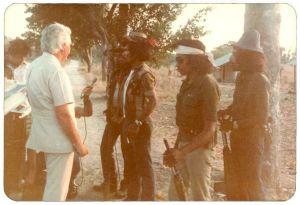 IMAGE E: Fretilin resistance members meet Australian parliamentary delegation leader, Bill Morrison. July 1983.